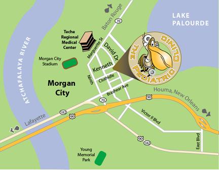 morgan city la map